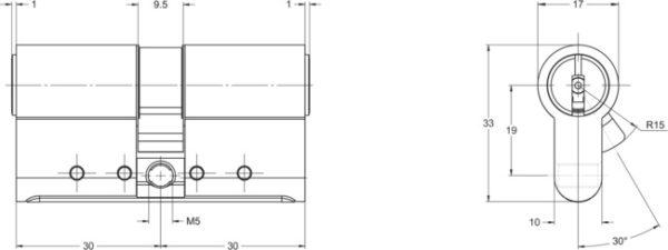 Cylindre KESO 8000Ω2 schema