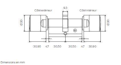 schema cylindre MobileKey Simons Voss